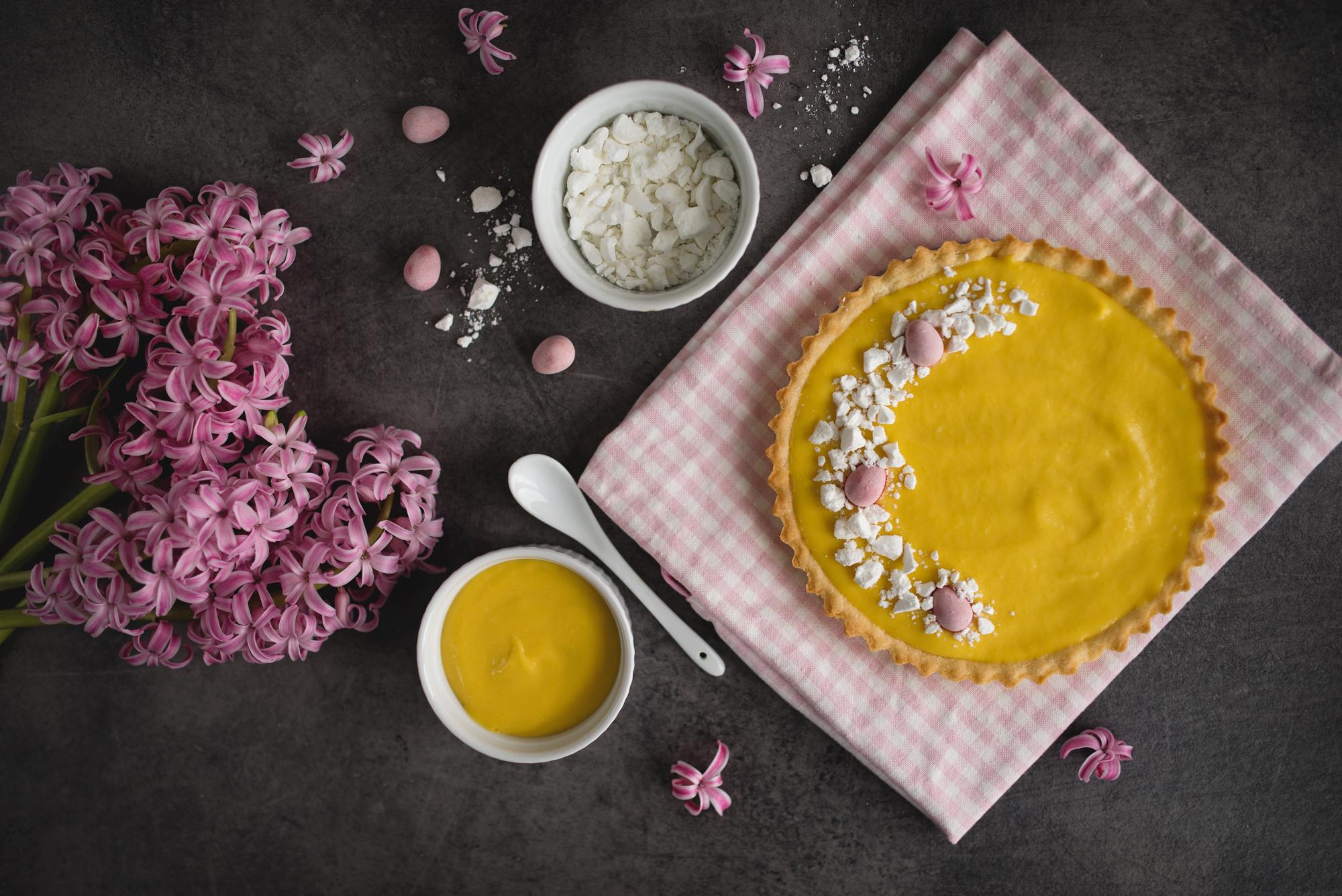 Wielkanocny mazurek z mango curd
